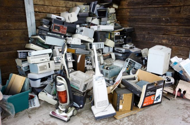 various home waste electronics