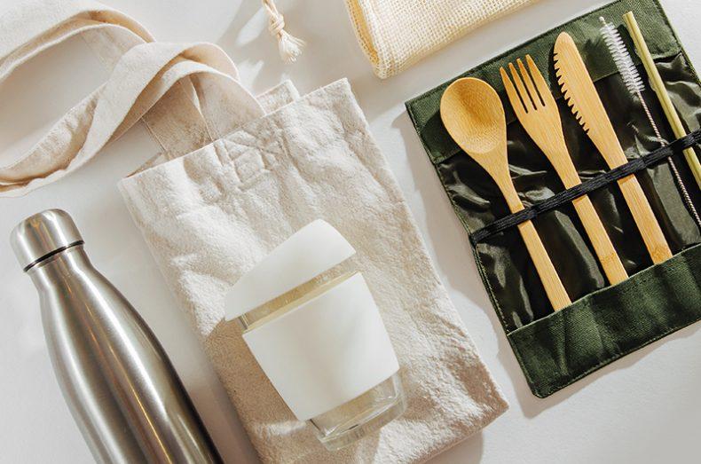 green living reusable items