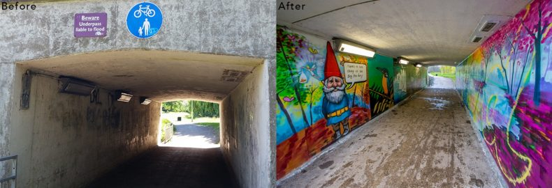 chelmsford street art underpass