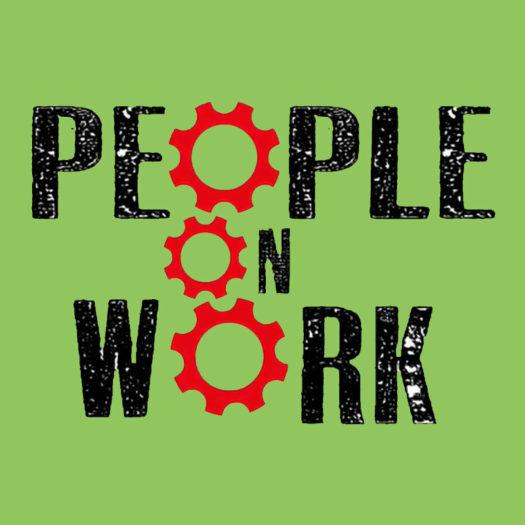 people on work logo green