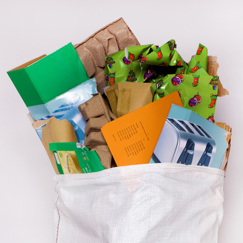 christmas cardboard recycling