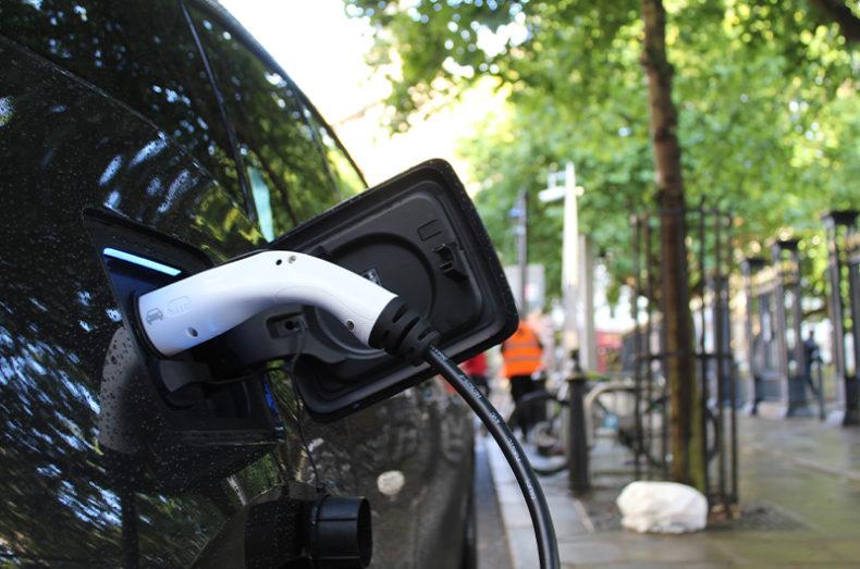 street electric car charging