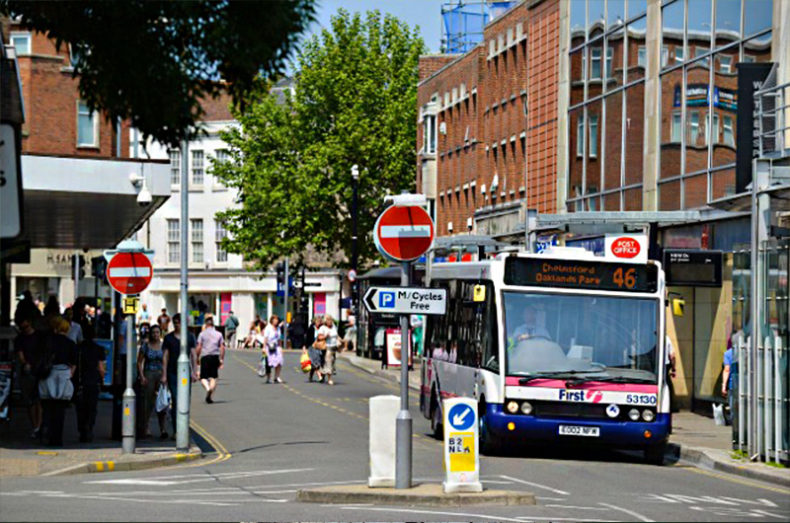 chelmsford city centre bus stop