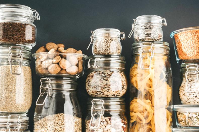 glass reusable jars
