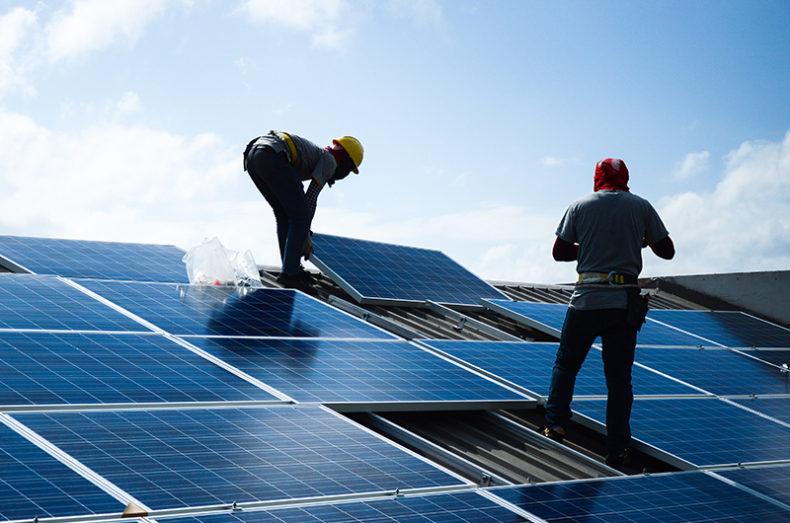 green career install solar panels